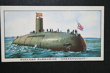 HMS Dreadnought   Royal Navy Submarine Hunter Killer    Vintage Card  VGC