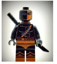 Custom Minifigure Black Deathstroke Printed on LEGO Parts