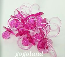 24 BIG Diamond Cut Pacifiers Baby Shower Favors fuchsia  Party Decorations Girl