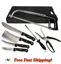 NEW Weston Processing Knife Set 10 Pc Deer Cleaning Skinning Butcher