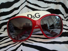 Dolce and Gabanna D & G Oversized Red Jackie Onassis Retro Vintage Sunglasses