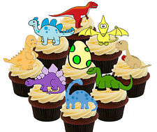 Dinosaur Party! 36 Edible Cup Cake Toppers, Stand-up, Fairy Cake Kids' Birthday