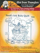 Noah's Ark Baby Quilt Blanket Aunt Martha's Hot Iron Embroidery Transfer #3925