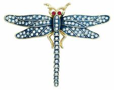 Brooch with crystals The Dragonfly 6.2x7.9 cm #0717