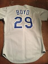 1991 Vintage Oil can Boyd Texas Rangers GAME USED WORN JERSEY