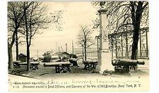 Brooklyn Navy Yard NYC NY -DEAD OFFICERS MONUMENT-WAR OF 1812 CANNONS-Postcard