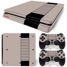 Sony PS4 Playstation 4 Slim Skin Aufkleber Schutzfolie Set - Retro NES Motiv