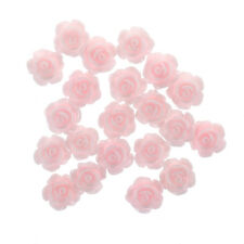 20pcs Durable 3DPink Little Rose Flower with Rhinestones Nail Art Decoration AD