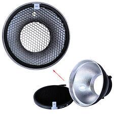 Métal Réflecteur softbox diffuseur +nid d'abeille/Grille pr Bowens Studio Flash