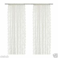 "IKEA ALVINE SPETS Pair of Lace Curtains Off - White 2 Panels 57 "" x 98 """