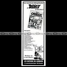 ASTERIX Le nouvel album Obelix et Compagnie Uderzo 1971 Pub / Publicité / Ad #C5