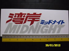 Wangan Midnight Racing 3M reflective sticker decal. JDM