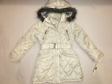 NWT $110 DKNY hoodie jacket faux fur GIRL size S (8-12?) cld dancer 125