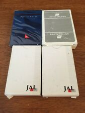 Lot Of 4 Airline Playing Cards United Airlines JAL  Quantis