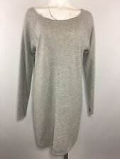 Athleta Gray Sweater Dress L Large Solid Long Sleeve Tunic Top