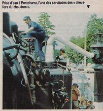 1984  --  PRISE D EAU D UN TRAIN VAPEUR A PONTCHARRA   3F221