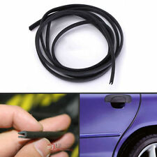 2M Black Moulding Trim Car Door Anti Scratch Protector Edge Guard Rubber Strips