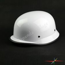 Motorcycle White German Style Half Face Helmet Chopper Cruiser Bike Driver New