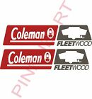 coleman fleetwood rv camper logo pop up decal sticker popup decals