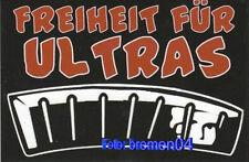 2 Aufkleber ULTRAS #001 Fußball + Freiheit für Ultras + 9,0x6,0 cm + NEU +