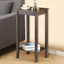 Tall Wood Side End Coffee Table Bedside Nightstand Tables Living Room Bedroom