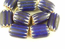 10 pcs large focal Venetian 4 layer chevron glass trade beads old Africa AC-0084