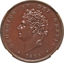 Great Britain 1826 George IV Proof Penny NGC PF-65 BN