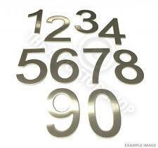 Stainless Steel House Numbers - No 68 - Stick on Self Adhesive 3M Backing 10cm