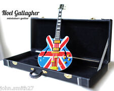 Miniature Guitar Noel Gallagher OASIS Union Jack SemiHollow + Case FREE SHIPPING