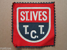 St Ives T.C.T. Cloth Patch Badge