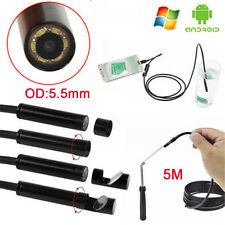 HD 720P 5M USB VIDEO INSPECTION ENDOSCOPE BORESCOPE TUBE SNAKE CAMERA WATERPROOF