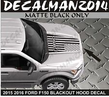 FORD F150 2015 2016 Blackout American Flag Vinyl hood decal Matte Black