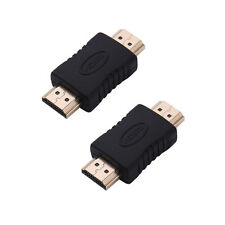 2pcs HDMI Male to HDMI Male M/M Connector Converter Standard Coupler Adapter