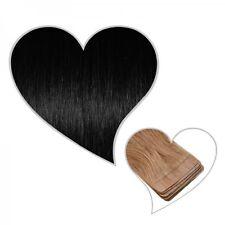 10 cinta en extensiones negro#01 Wefts 45 cm Pelo auténtico negro Skin Tressen