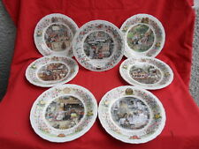 Wedgwood Foxwood Tales Set of 6 Collectors Plates & The Christmas Plate