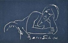 Heinz Wagner - Neujahrskarte 1966 - Radierung