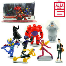 9Pcs DISNEY BIG HERO 6 BAYMAX DISPLAY ACTION FIGURE KID CAKE TOPPER DECOR TOY