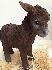 Donkey Little Brown Donkey Farm Animal Vivid Art Pet Pals
