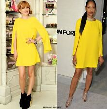 ZARA RARE YELLOW DRESS WITH CAPE SLEEVES MOST WANTED SMALL - S