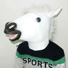 New Halloween Party Mythology Fancy Full Head Rubber Mask Costume White Horse