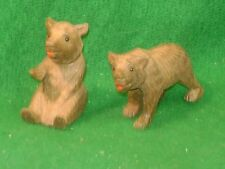 Vintage pair of Black Forest carved Bears