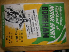 Motor cycle boreham race MEETTING programme le 4TH août 1952