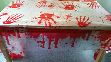 "Bloody - Blood Stained Table Cover  54"" x 108"" Halloween Party Decoration"