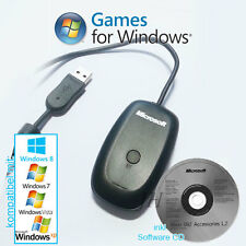 Microsoft Wireless kabelloser Adapter Receiver für Xbox 360 Controller an PC