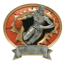 "7"" Female Basketball Sport Blasters Resin Plaque Free Engraving"