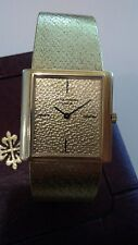 18k All Gold Vintage Patek Philippe watch with 18k Gold Guilloche dial Rare!