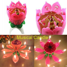 Romantic Flower Music Candles Lotus Flower Candle Birthday Candle Anniversary
