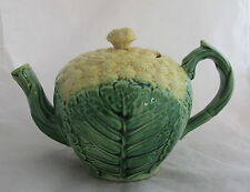 Antique Signed Griffen Smith&Hill Etruscan Majolica Pottery Cauiflower Teapot