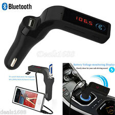 Bluetooth Car Kit Handsfree FM Transmitter Radio MP3 Player USB Charger Aux SD