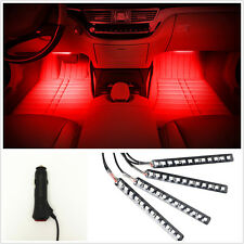4 x 12 LED Car SUV 12V RED Footwell Interior Floor Decorative Atmosphere Lights